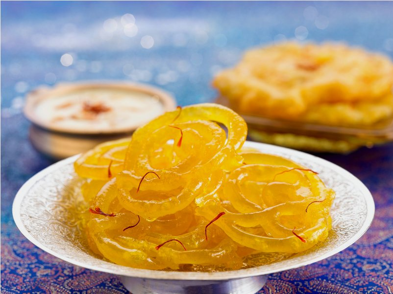 Jalebi with curd