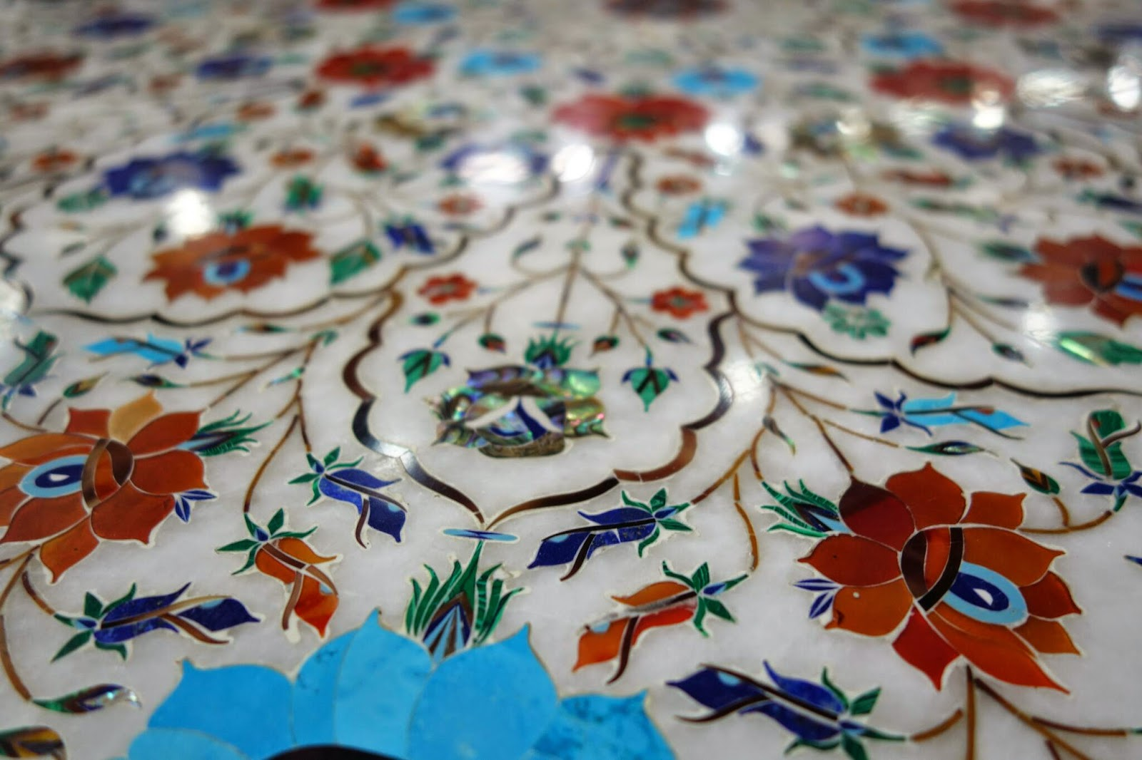 taj mahal stone inlay