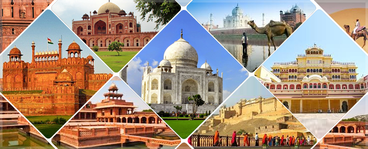 india golden triangle cities monuments